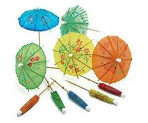 Díszítő esernyő - koktél ernyő 10db/cs
