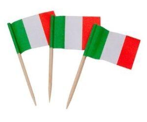 Olasz zászló pálcika 144db/cs