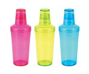 Plasztik koktél shaker 500ml választható színekben