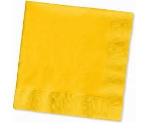 Koktélszalvéta 24x24cm 200db/cs sárga