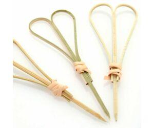 Szív alakú bambusz koktélnyárs 90mm 100db/cs