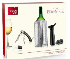 Vacu Vin Essentials bornyitó dugóhúzó szett ezüst