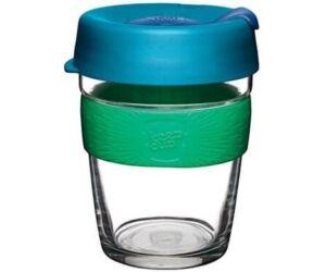 KeepCup Brew Café üveg pohár kávés termosz FLORAL 360 ml