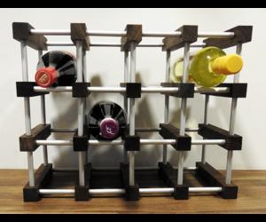 dió színű bortartó rács alucsővel 12 bornak