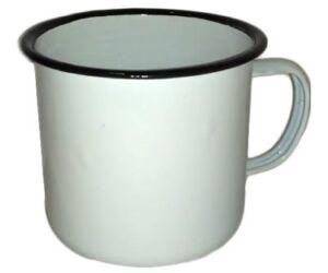 The Bars fehér fémbögre 330 ml