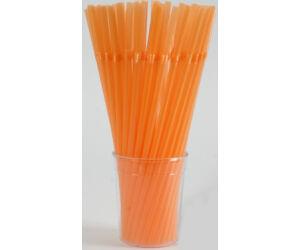 Hajlítható narancs szívószál 1000db/cs