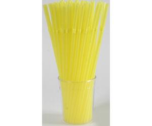 Hajlitható sárga szivószál 1000db/cs