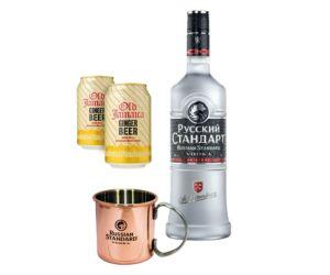 Russian standard original vodka csomag + ajándék Russian mule réz bögre