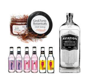 Aviation Gin Tonik szett ajándék csili szállal