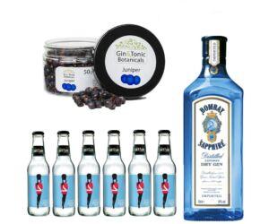 Bombay Gin Tonik szett ajándék Gin fűszerrel