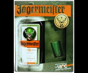 Jägermeister likőr - 0,7 L (35%) + 2 db shot pohár
