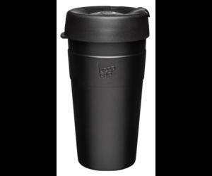 KeepCup Thermal Café rozsdamentes acél pohár kávés termosz BLACK 454 ml