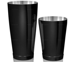 Kenko boston shaker fém keverőpohárral gunmetal fekete színű