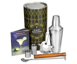 Luxury manhattan koktél shaker szett színes díszdobozban