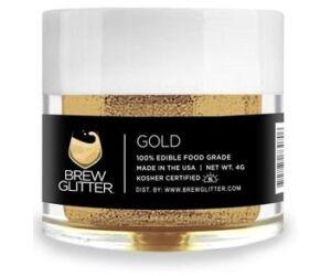 Gin Tonik és koktél színező glitter, ehető csillámpor - arany (4 gr)