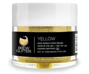 Gin Tonik és koktél színező glitter, ehető csillámpor - sárga (4 gr)