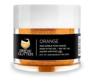 Gin Tonik és koktél színező glitter, ehető csillámpor - narancssárga (4 gr)