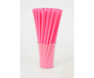 Vastag rózsaszín szívószál 500db/cs