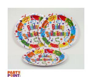 Boldog Születésnapot tányér 23 cm 6 db/cs