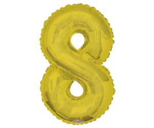 87 cm-es arany szám fólia lufi 8-as