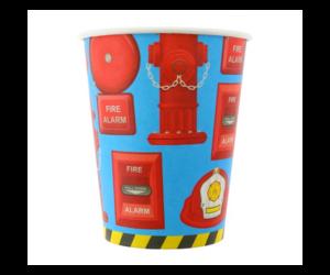 Tűzoltós papír pohár 6 db/cs 270 ml