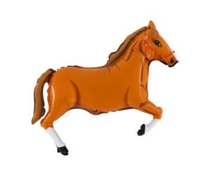 Mini világosbarna ló fólia lufi