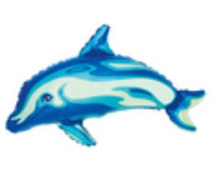 Mini delfin kék fólia lufi