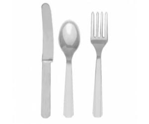 Ezüst színű evőeszköz készlet 24 db/cs