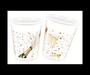 Pezsgősüveges műanyag pohár 8 db