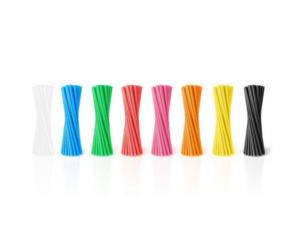 Szívószál 20db/cs különböző színekben