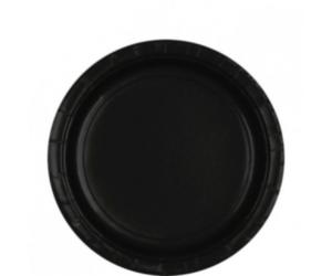 Fekete tányér 23 cm 8 db/cs