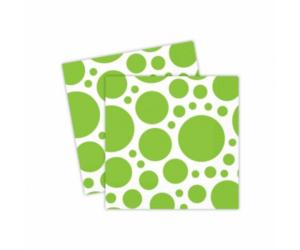 Limezöld pöttyös szalvéta 33 x 33 cm 20 db/cs