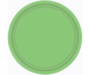 Lime zöld papír tányér 18 cm 8 db/cs