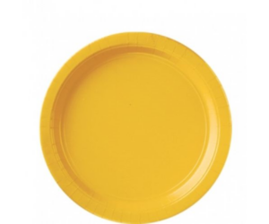 Sárga papír tányér 23 cm 8 db/cs