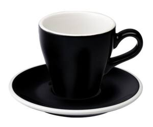 Loveramics Tulip cappuccino csésze+alj fekete 180ml