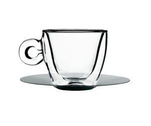 Duplafalú thermic cappuccinós csésze+alj szett 165ml 2db/cs