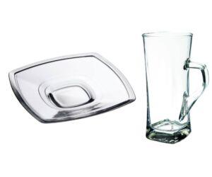 Vitrum lattés üveg pohár aljjal 330 ml