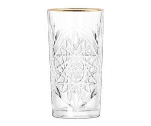 Hobstar long drinkes pohár arany karimával 474 ml