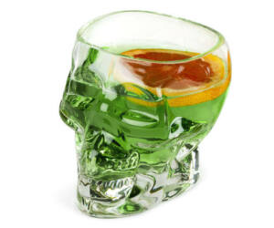 Tiki Skull shot üvegpohár 90ml