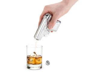 Acél pisztolyflaska 190ml