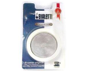 Bialetti elegance fém szűrő + gumi gyűrű 10 cup