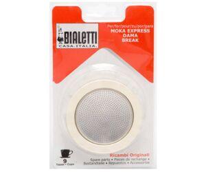 Bialetti fém szűrő + gumi gyűrű 9 cup