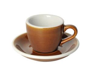 Loveramics egg karamell 80 ml eszpresszó csésze és csészealj