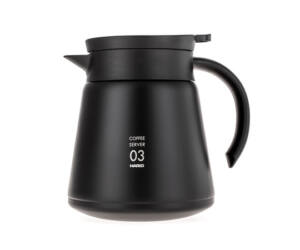 Hario szigetelt duplafalú rozsdamentes acél kávés kancsó V60-02 fekete 800 ml