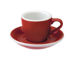 Loveramics egg piros 80 ml eszpresszó csésze és csészealj