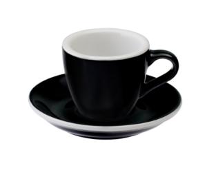 Loveramics egg fekete 80 ml eszpresszó csésze és csészealj