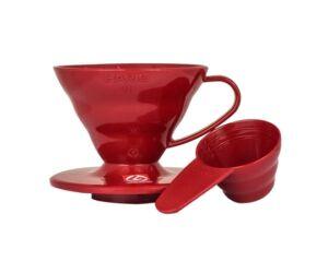 Hario V60-01 műanyag kávécsepegtető piros