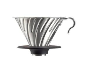 Hario V60-02 Acél Kávé Csöpögtető szilikon talppal