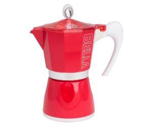 Bella Piros 6 csészés Gat Kotyogós Kávéfőző