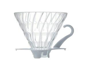 Hario V60-02 Üveg Kávé Csepegtető Dripper Fehér